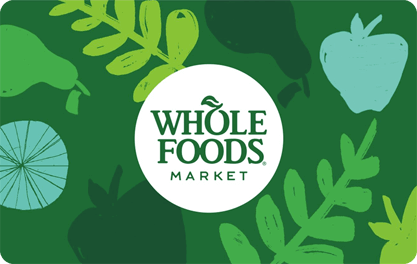custom corporate whole foods market gift card